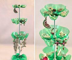 Idées de décoration:recyclage de bouteilles en plastique