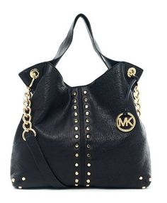 Michael Michael Kors Uptown Astor Large Shoulder Tote Black Leather. Some less than $100 OMG! Holy cow, I am gonna love this site!