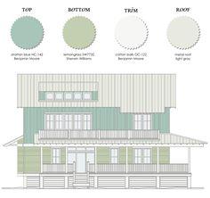 Exterior paint colors for beach house Beach House Pinterest