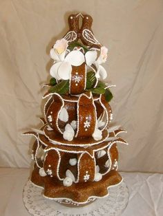 Croquembouche, Gingerbread Houses, Edible Art, Christmas Cookies, Deserts, Eat, Food, Decor, Food Cakes