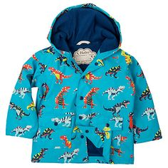 Buy Hatley Boys' Roar T-Rex Rain Jacket, Blue/Multi Online at johnlewis.com