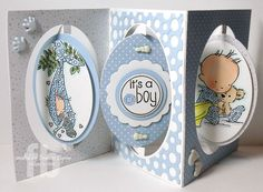 Accordion Oval Card from Elizabeth Craft Designs