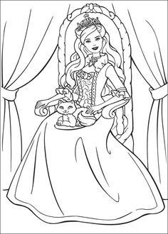 princezna a vadlenka barbie svadlenka04 omalovnky