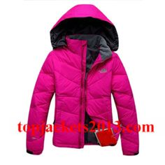 The North Face Outlet Womens 700 Fill Goose Down Jacket Pink Grey