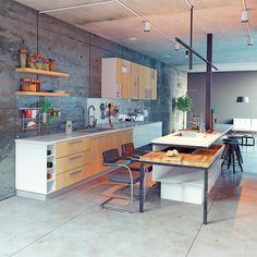 Mix and match Quartz with natural. lovely Quartzmasters LLC  #kitchen #quartz