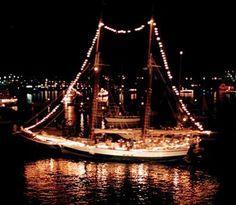 2012 Venetian Festival Lighted Boat Parade. Lake Geneva, Wisconsin.