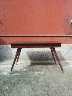 #Tavolo anni 60 in teak #massello, allungabile con zampe tornite e puntali in alluminio. Misure 127x71x74h aperto 166 #magazzino76 #viapadova #Milano #nolo #viapadova76 #M76 #modernariato #vintage #industrialdesign #industrial #industriale #furnituredesign #furniture #mobili #modernfurniture #antik #antiquariato  #armchair #chair #sofa #poltrone #divani #tavoli #table #teak #anni60