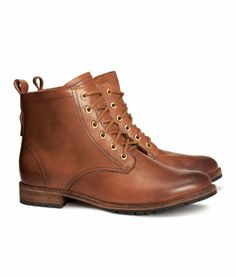 Love these cognac leather ankle boots!