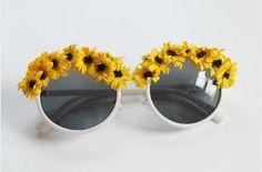 Fun Flower Sunglasses | AllFreeKidsCrafts.com