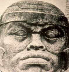 The Olmecs Were Ancient Africans:This Olmec king with Africoid facial features, rediscovered in 1858 at the Tres Zapotes archeological site in the Mexican state of Veracruz, is convincing evidence of the 3,000-year presence of Africans in Mexico but was omitted from the Oakland Museum of California exhibit. http://sfbayview.com/2009/09/problems-with-the-recent-exhibit-%E2%80%98african-presence-in-mexico%E2%80%99/