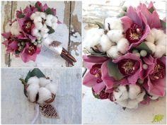 Ramo Algodón y orquídeas Mayula Flores