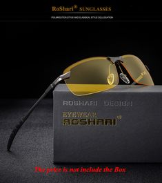 US $5.74  RoShari Men Glasses Car Drivers Night Vision Goggles Anti-Glare Sun glasses men Polarized Driving Sunglasses gafas oculos de sol