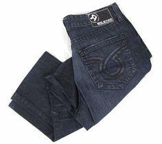 Big Star Eastman Mens Jeans 38R 38 x 30 Straight Leg Frayed Dark Wash Blue Denim #BigStar #ClassicStraightLeg