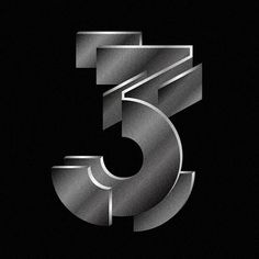 36 days of type Vol. 2 on Behance 36 Days Of Type, Number 3, Typography, Behance, Letterpress, Letterpress Printing, Fonts, Printing