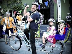 Super dad on a bike!