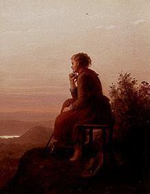 Auf der Höhe (1876) von Johann Georg Meyer von Bremen (geboren am 28. Oktober 1813 in Bremen, gestorben am 4. Dezember 1886 in Berlin), bedeutsamer Künstler der klassischen deutschen Genremalerei.