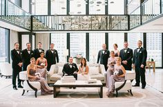 Nice group shot in the lobby of the Langham Chicago