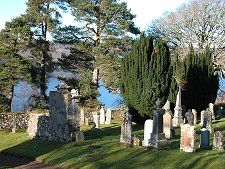 Lochside Cemetery at Boleskine