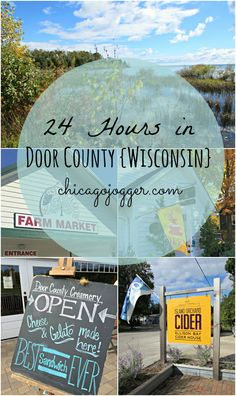 24 Hours in Door County {Wisconsin} - the most relaxing outdoor vacation spot in the Midwest! | Chicago Jogger #travel #wisconsin