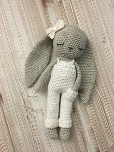 Crochet Longear Bunny With Salopette Trousers And Bow Tie Crochet Toy Baby Bunny Newborn Toy Doll With Trousers Newborn Birth Gift Newborn - Amigurumi Newborn Baby Care, Newborn Toys, Newborn Baby Gifts, Baby Toys, Newborn Crafts, Crochet Mignon, Crochet Bunny, Cute Crochet, Hand Crochet