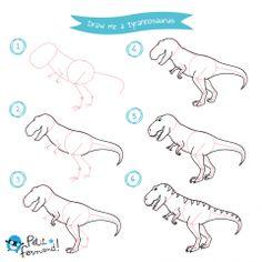 Apprendre dessiner un dinosaure colorier un dinosaure apprendre dessiner pinterest - Dessiner dinosaure ...