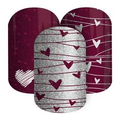 Love Spell Jamberry Nail Wraps $15 Buy 3 Get 1 Free Spend $50 or more (pre tax) on my site and get a free 1/2 wrap from my inventory