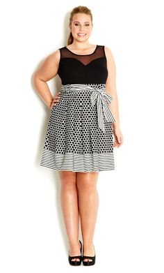 City Chic - SO SWEET DRESS - Women's plus size fashion #citychic #citychiconline #newarrivals #plussize