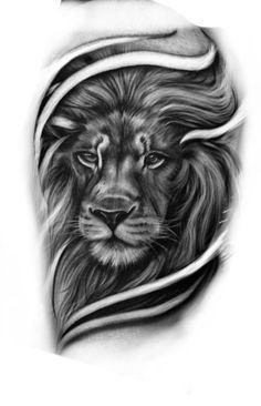 Lion Head Tattoos, Cool Arm Tattoos, Leo Tattoos, Music Tattoos, Animal Tattoos, Body Art Tattoos, Card Tattoo Designs, Family Tattoo Designs, Tattoo Designs Men