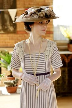 #Downton Abbey Lady Mary (Michelle Dockery)  in #GG beautiful day dress