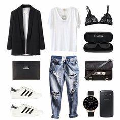 Effortless ◼️◻️ @liketoknow.it www.liketk.it/1Ulmq #liketkit #ootd #outfitoftheday #outfit #polyvore #fashion #style #instaoutfit #instafashion #adidas #adidassuperstar #oneteaspoon