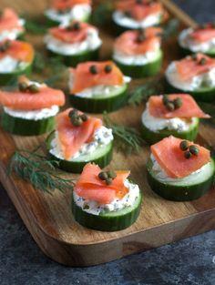 Everything Bagel Cucumber Bites with Smoked Salmon