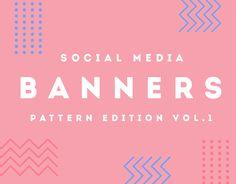 """다음 @Behance 프로젝트 확인: """"Modern Pattern Social Media Banners"""" https://www.behance.net/gallery/35396607/Modern-Pattern-Social-Media-Banners"""