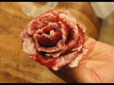 how to make felted wool flower - YouTube