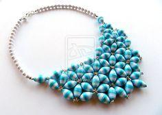 Paper beads necklace by OmbryB.deviantart.com on @deviantART