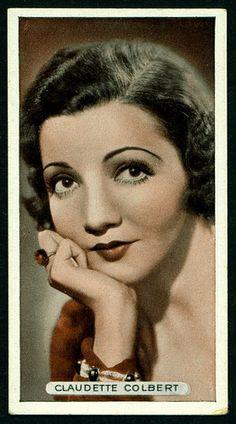 Cigarette Card - Claudette Colbert