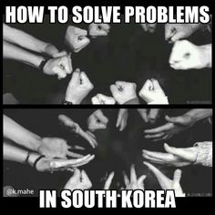 Rock paper scissors: how to solve problems in South Korea. 가위 바위 보!!! ~Vai