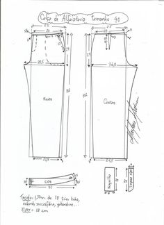 Modeling scheme for tailor-made pants size 36 Dress Sewing Patterns, Sewing Patterns Free, Sewing Tutorials, Clothing Patterns, Sewing Projects, Sewing Pants, Sewing Clothes, Diy Clothes, Pattern Drafting