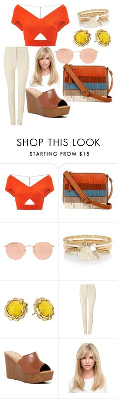 """Modern 70's/80's look"" by tatyana95 ❤ liked on Polyvore featuring Roland Mouret, T-shirt & Jeans, Ray-Ban, River Island, Kate Spade, Phase Eight, Callisto and modern"