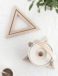 DIY Wood Triangle Trivets - Homey Oh My