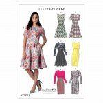 Vogue 9202 - Nette fit-and-flare jurk en kokerjurk
