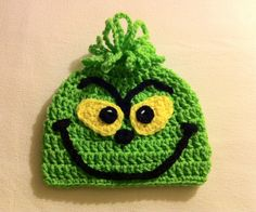 THE GRINCH Crochet Hat Beanie