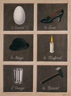 "(Me gusta el sonido de ""la Lune"".) Réne Magritte. La clef des songes."