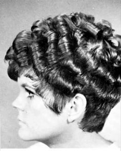 1960s Hairstyling - Rows and rows of rolled curls