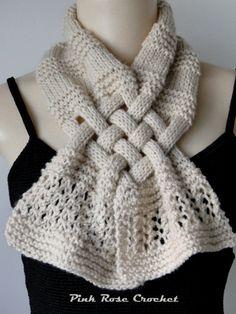 Pink Rose Crochet: Cachecol Trançado e Boina de Tricô