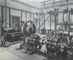 radio tube inventor, John Ambrose Flemming's steam driven lab