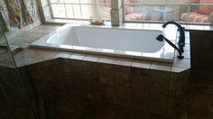 porcelain tile jacuzzi tub build out Jacuzzi Tub, Bathtub, Tile Installation, Carpet Tiles, Porcelain Tile, Hardwood, Building, Standing Bath, Jacuzzi