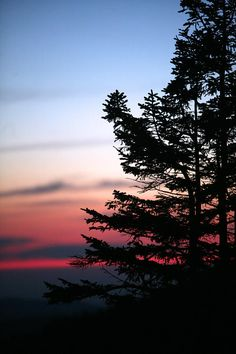 Sunset at Clingmans Dome, Great Smoky Mountains National Park; photo by Brian Lumley
