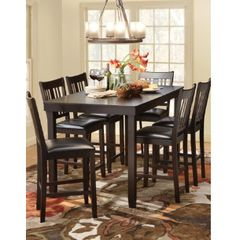 "60"" dining table & 6 chairs 