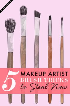 makeup brush tricks // love these tips!! #beautytips