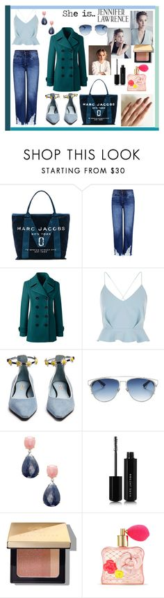 """""""jennifer lawrence"""" by nicks-1 ❤ liked on Polyvore featuring Marc Jacobs, 3x1, Lands' End, River Island, Fabrizio Viti, Christian Dior, Rina Limor, Bobbi Brown Cosmetics, Victoria's Secret and Blue"""